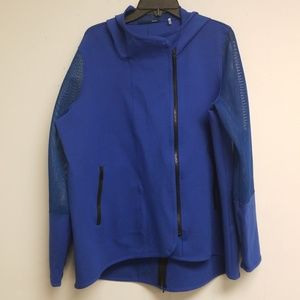 Elie Tahari Sport Zip Up Hooded Mesh Jacket XL